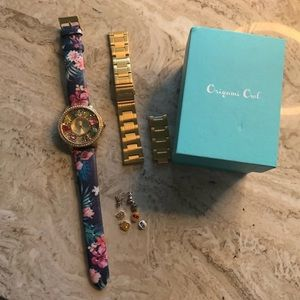 Gold Origami Owl Watch